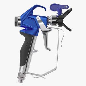3D Airless Paint Spray Gun model