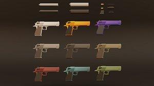 weapon muffler bullets 3D