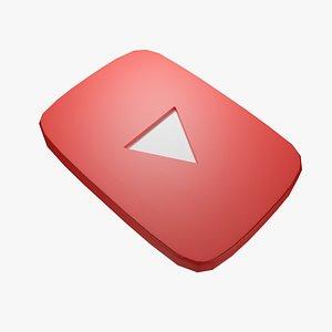 youtube logo 3D model