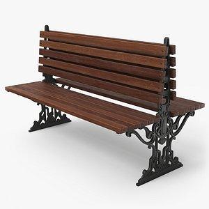 3D bench city pbr