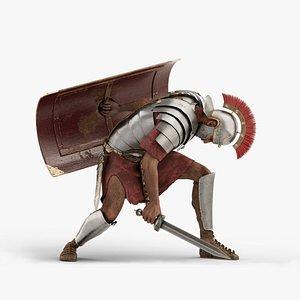Roman legionnaire v01 3D model