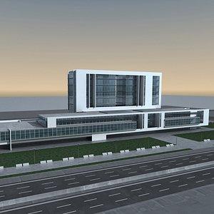 3D Modern Building 140 Scene model