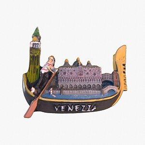 Venezia 03 Venice Italy magnet souvenir fridge low poly 3D