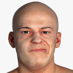 real pbr marcus human head 3D model