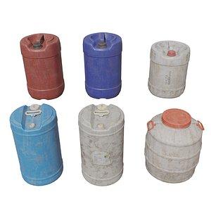 3D Plastic gallons