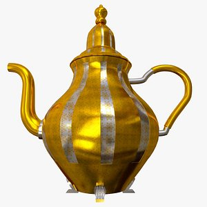 3D traditional teapot