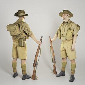 australian infantryman character model