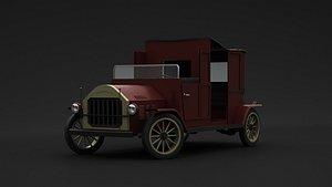 3D model Old Car 1900's