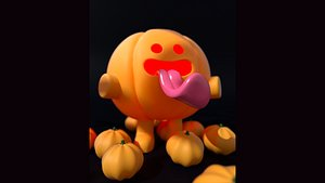 3D stylized pumpkin