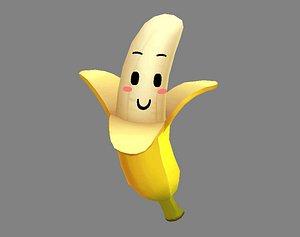 banana mascot 3D model
