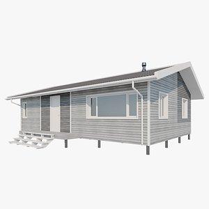 3D model Scandinavian House(1)