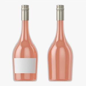 3D Wine bottle mockup 11 screw cap model
