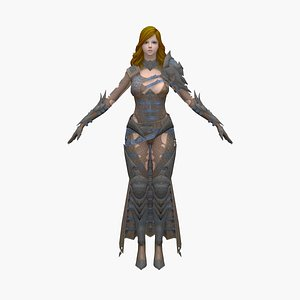 3D assassin girl