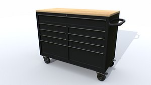 Workbech Storage Tools Trolley 1 3D model