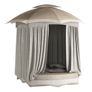 Outdoor open Camping tent 3D model