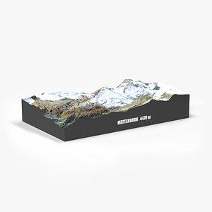 3D landscape mountain model