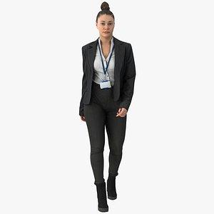 3D Freya Business Walking Pose 01