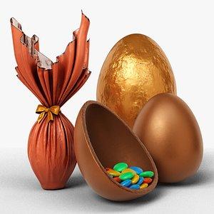 chocolat easter egg 3D