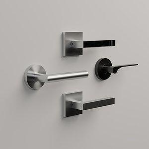 3D door handle modern model
