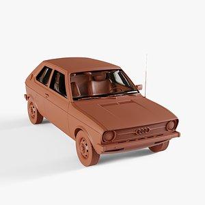 3D transportation vehicle car model