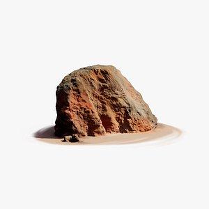 martian rock large 3D