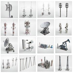 antennas 3D model