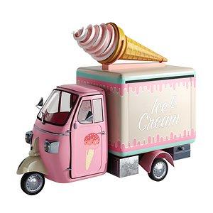 3D Foodtruck ice cream