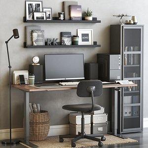 3D model IKEA office workplace 57