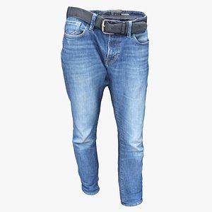 3D men´s jeans clothes model