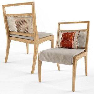 3D sotto dining chair model