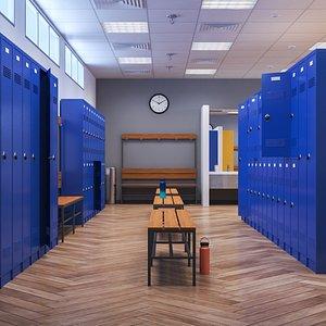 3D Locker Room model