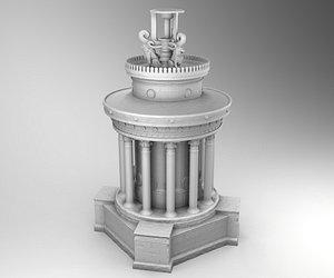 3D model monument lysicrates