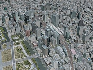 tokyo city 3D model