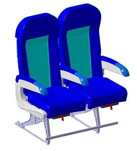 economy class seating 3D model