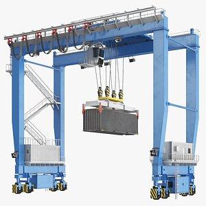 3D model Gantry Container Crane