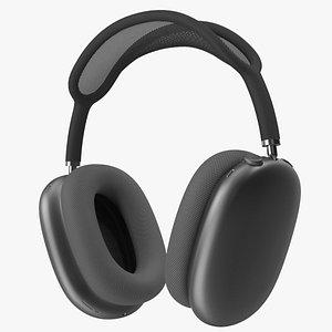 AirPods Max Headphones Space Grey 3D model