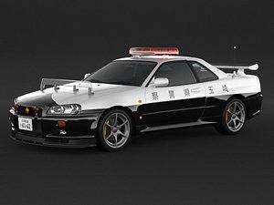 car nissan skyline r34 3D model