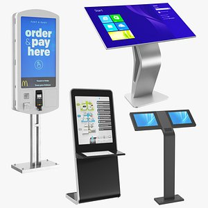 3D Electronic Kiosks Collection