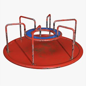 Merry-go-round carousel 01 3D model