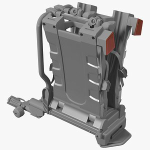 Hitch Bike Racks Platform Folded 3D model