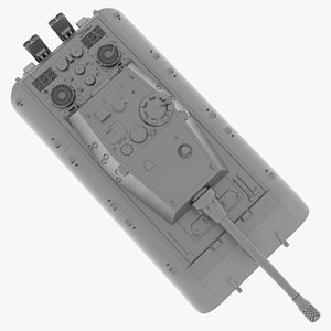 12 8 cm tank 3D model
