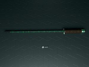 3D Sci-fi Sword model