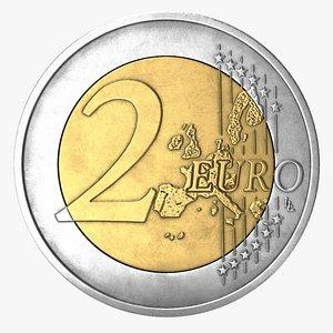 euro coin eur 3D model