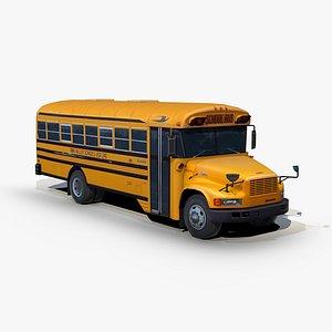 3D model international 3800 school bus