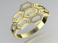 stylish ring honeycomb
