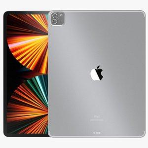 Apple iPad pro 2021 12.9-inch White 3D model