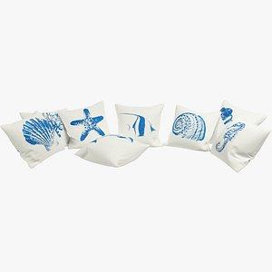 3D Sea Pillows V1 model