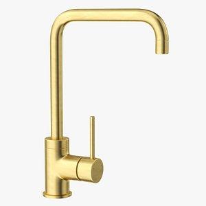 Angular Single Lever Sink Mixer Brass 3D