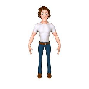 3D model cartoon man toon