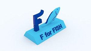 3D f fish